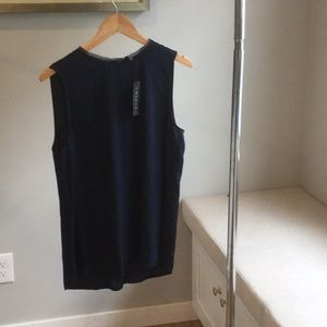 Theory Navy Silk Blouse**Brand New with Tags**M